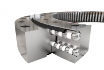 Different diameter ball double row four point contact slewing bearing